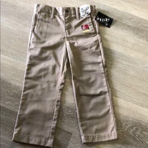 NWT Boys Volcom Khaki Flat Front Pants 3T